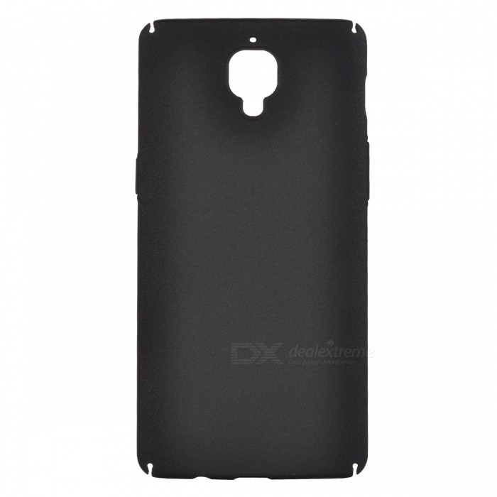 Dazzle colour Rubber + PC Hard Shell Back Case for OnePlus 3 - Black