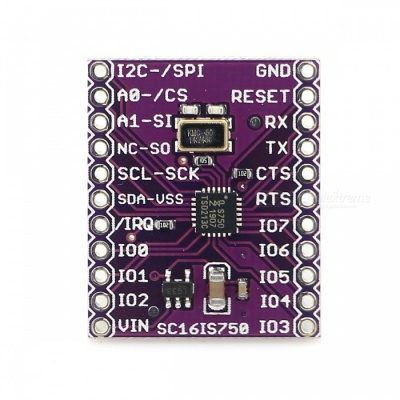 SC16IS750 Single UART with I2C-Bus / SPI Interface Module