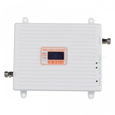 4G/W-CDMA 2100/2600MHz LCD Signal Repeater for Mobile, EU Plug - White