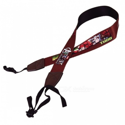 Cartoon Pattern Strap for DSLR Camera - Brown + Black