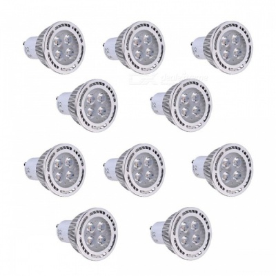 10Pcs YWXLight GU10 4W 4-SMD 3030 3000K LED Spotlights Warm White