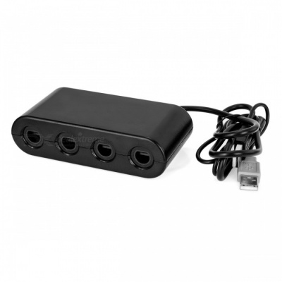 NITEO 4 Port Gamecube Game Controller Adapter Converter for Wii U / PC
