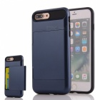 PC + TPU Back Case w/ Card Slot for IPHONE 7 PLUS - Navy Blue