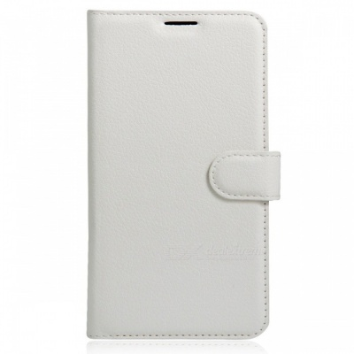 Flip-Open PU Leather Back Case w/ Wallet for Xiaomi Redmi 4A - White