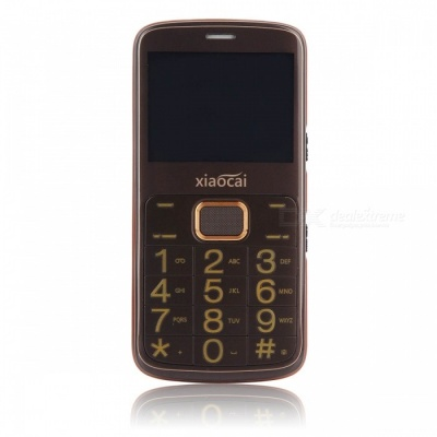 "XIAOCAI A600 2.31"" GPS GSM Mobile Phone w/ 64MB + 64MB - Brown"