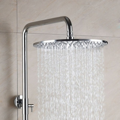 W0012-2 12 Inch Brass Chrome Rainfall Shower Head - Silver