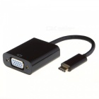 Cwxuan USB 3.1 Type-C to VGA Adapter Cable - Black (19cm)