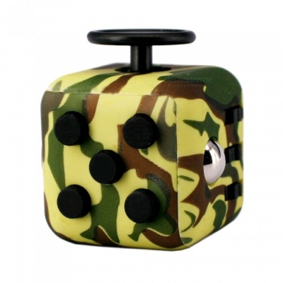 Updated Version Dice Cubic Toy for Focusing - Camouflage Yellow