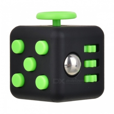 Updated Version Fidget Cubic Toy for Focusing - Black + Green