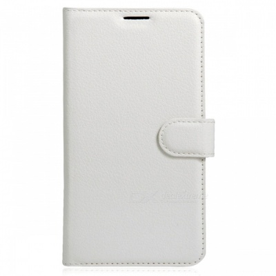 Protective PU Wallet Cases w/ Card Slots for DOOGEE X9/ X9 PRO - White