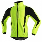 ARSUXEO Windproof Men's Long-sleeved Cycling Jacket - Light Green (L)