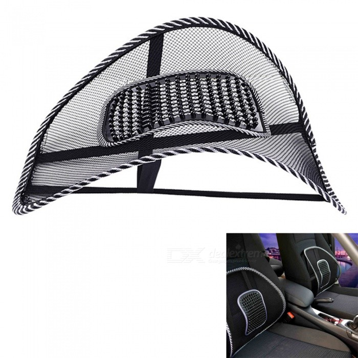 High Elastic Steel Wire Frame Cushion Car Chair Backrest - Black