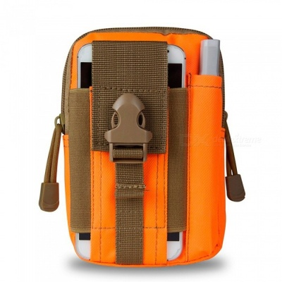 KICCY Tactical Molle Bag Belt Waist Pack for Samsung, IPHONE - Orange