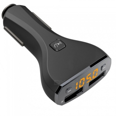 Bluetooth Hands-free Car Kit w/ FM Transmitter + 2.4A Car Charger