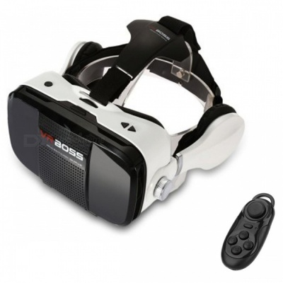 VR BOSS Virtual Reality 3D Glasses + Bluetooth Controller - Black