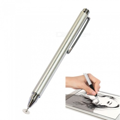 AT-11 Universal Touch Screen Capacitive Pen for Mobile Phone - Silver