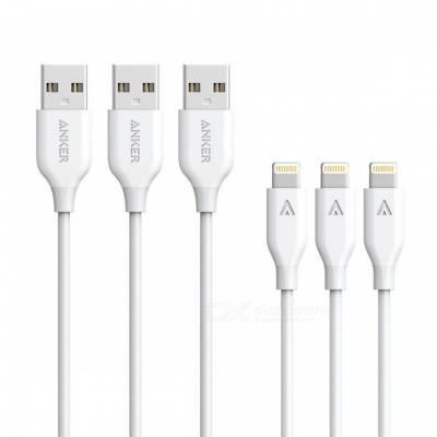 Anker PowerLine MFi Lightning to USB Charging Cables (3 PCS / 3ft)