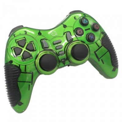 Miimall 2.4GHz Wireless Game Controller for PS2/ PS3 / PC - Green