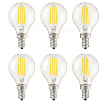 KWB G45 4W E14 LED Warm White Light Dimmable Filament Bulbs (6PCS)