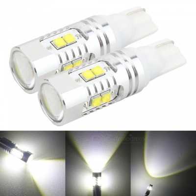 MZ T10 194 921 50W XB-D LED Car 168 Clearance Lights Stop Bulbs (2PCS)