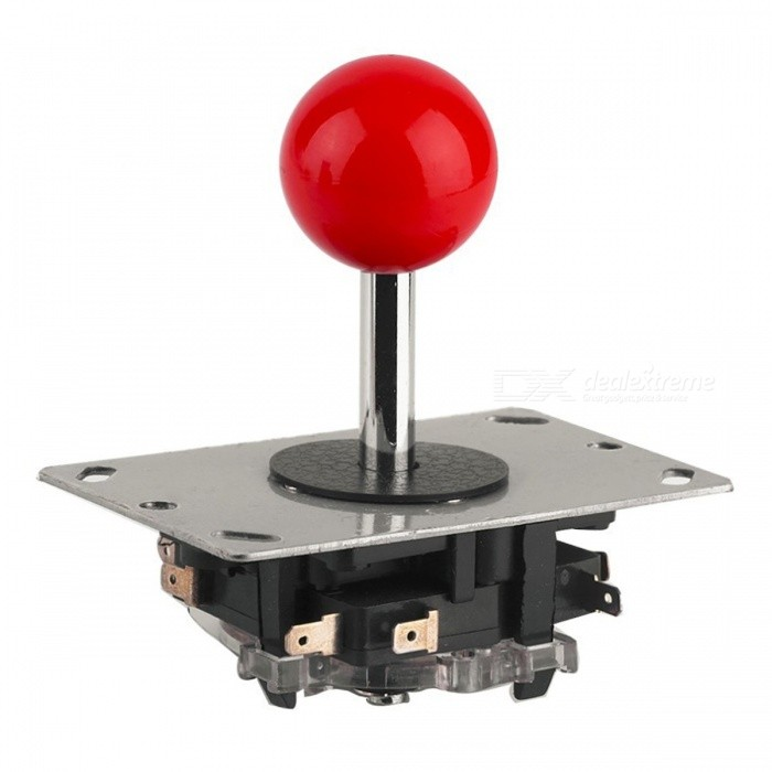 Classic 4/8 Way Replacement Arcade Game Joystick Ball - Silver + Red