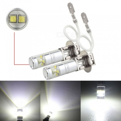 MZ H3 30W LED Car Fog Light DRL Conversion Bulbs Cold White (2PCS/12V)