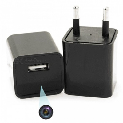 1080P HD Wireless 8GB Camera / EU Plug Adapter Socket Charger