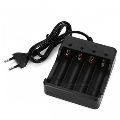 UltraFire HD-077B 18650 Lithium-ion Battery Charger, EU Plug - Black