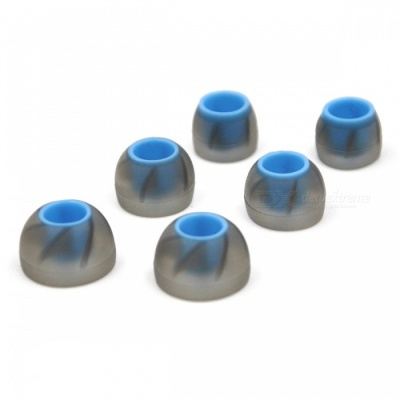 3 Pairs In Ear Earbuds Silicone Eartips for KZ Earphone - Blue + White