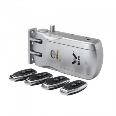 Wafu Wireless Invisible Smart Remote Control Door Lock - Silver