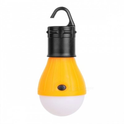3-LED 3-Mode 600lm Cold White Tent Lamp w/ a Hook for Camping - Yellow