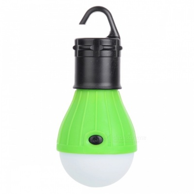 3-LED 3-Mode 600lm Cold White Tent Lamp w/ a Hook for Camping - Green