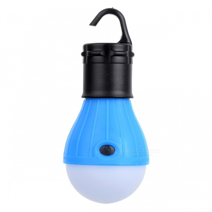 3-LED 3-Mode 600lm Cold White Tent Lamp w/ a Hook for Camping - Blue