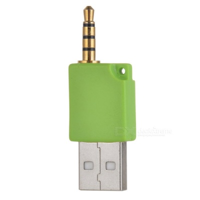 Mini USB Data and Charging Adapter for Shuffle-2 (Green)