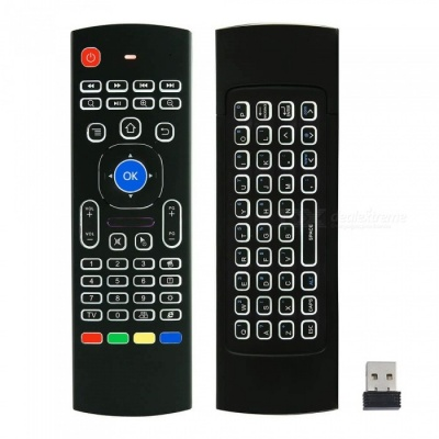 Kitbon MX3-L 2.4GHz Double Keyboard Wireless Backlit Air Fly Mouse