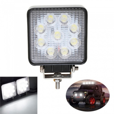 27W Cold White 6000K LED Car Spotlight Head Lamp (DC 12~24V)