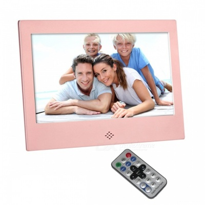 "7"" Digital Photo Frame 8G Memory&IR Remoter Power Adapter - Rose Gold"