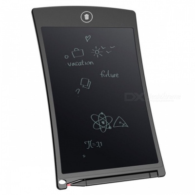 "8.5"" LCD Writing Tablet Board Jot Style eWriter - Black + Grey"