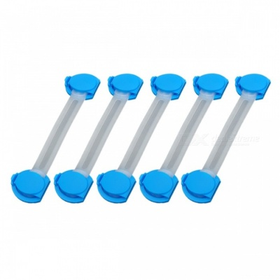 P-TOP Multifunction Baby Safe Drawer Locks - Blue + White (5 PCS)