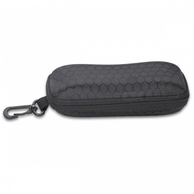 C00003 Protective Hard Zipper Case for Glasses - Black