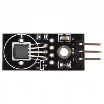 Hengjiaan DS18B20 Digital Temperature Sensor Module - Black + Silver