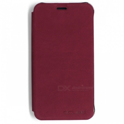 OCUBE PU Leather Flip-open Case for CUBOT Dinosaur Phone - Wine Red