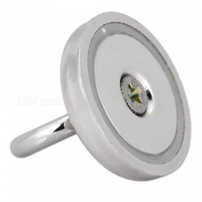 JEDX D32mm NdFeB Eyebolt Circular Ring Magnet for Salvage - Silver