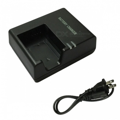 LPE10 Battery Charger and US Charger Cable for Canon LPE10 - Black