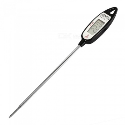LD108 Digital Cooking Food Thermometer - Black + Silver