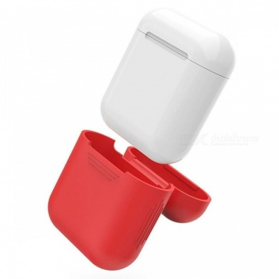 90SMART AirPods Protective Silicone Cover Skin for Apple Airpods - Red