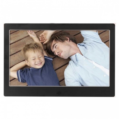 "10.1"" Digital Photo Frame 16GB Memory, IR Remote, Power Adapter- Black"