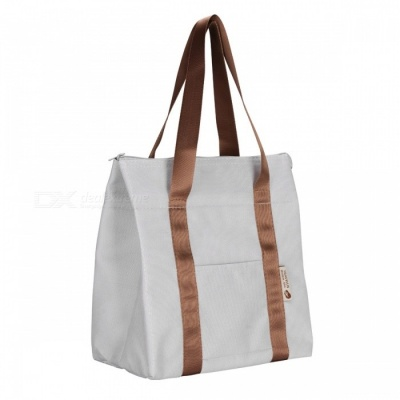 Portable Oxford Lunch Picnic Insulation Bag - Grey