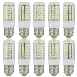 E27 12W 1800lm 69-SMD 5730 Cold White LED Corn Bulbs (220~240V/10PCS)