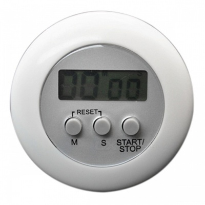 Mini Portable Kitchen Timer - White